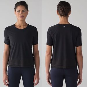 Lululemon Black Sole Training Short Sleeve Top